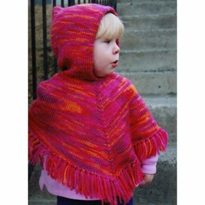 Knitting Pure Simple 243 Children S Poncho At Webs Yarn Com