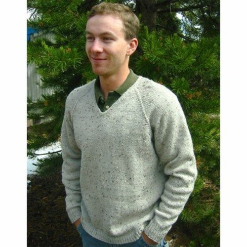 Knitting Pure & Simple 247 V Neck Down Pullover For Men -  ()