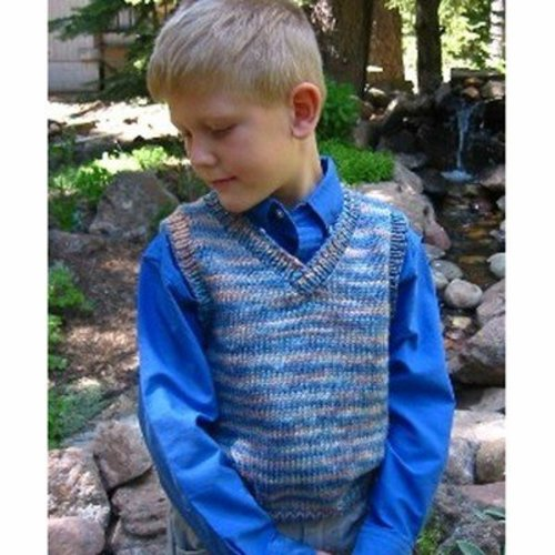 Vest Knitting Pattern For Children : Knitting Pure & Simple 256 Basic Vest For Children at WEBS Yarn.com