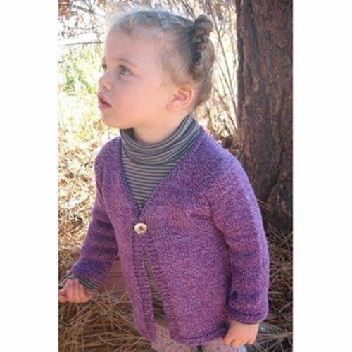 Knitting Pure & Simple 296 Girl's One Button Cardigan -  ()
