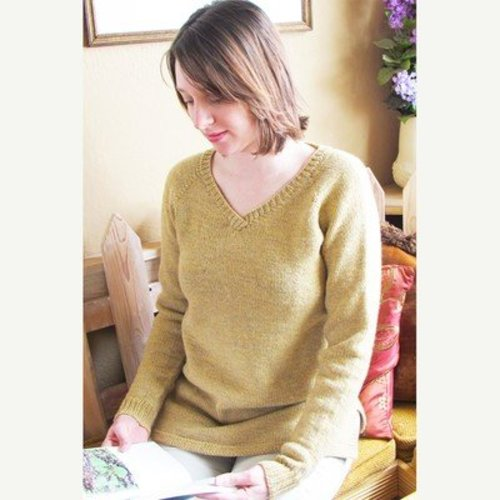 Knitting Pure & Simple 9726 Neckdown Pullover Tunic -  ()
