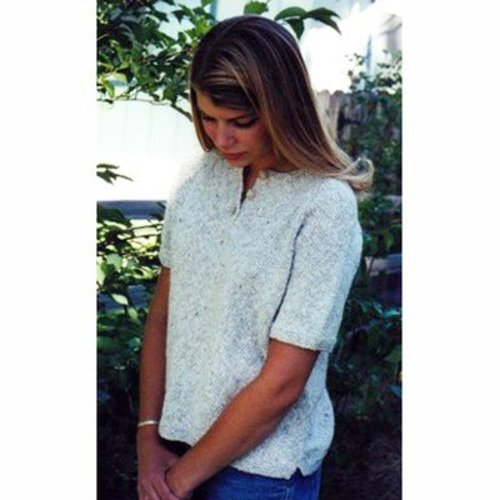 Knitting Pure & Simple 9727 Henley T-shirt For Women -  ()