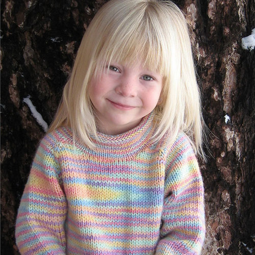Knitting Pure & Simple 9730 Children's Neckdown Pullover -  ()