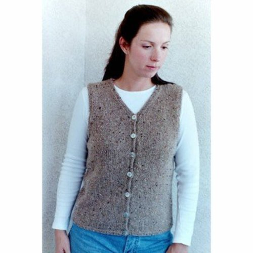 Knitting Pure & Simple 995 Basic Cardigan Vest For Women -  ()