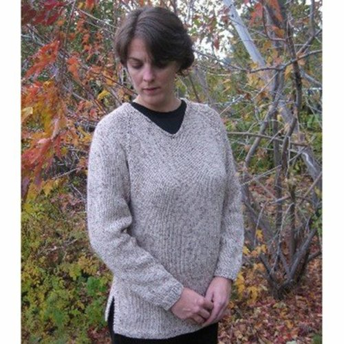 Knitting Pure & Simple 996 Bulky V-neck Pullover -  ()