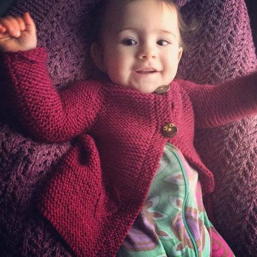 Knitting School Dropout Greenfield Baby Cardigan PDF -  ()