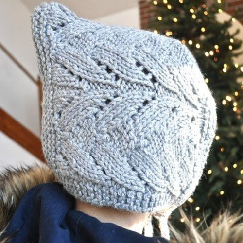 Knitting School Dropout Grown-up Lace Bonnet PDF -  ()