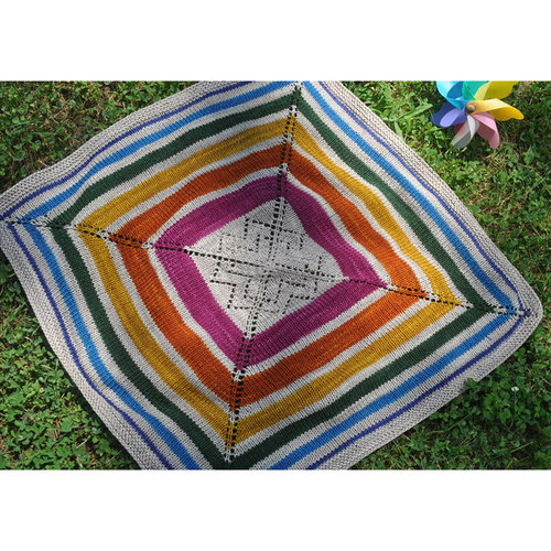 Knitting School Dropout Sunshower Baby Blanket PDF -  ()