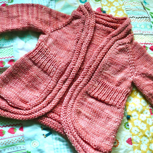 Knitting School Dropout Wee Wonderland Cardigan PDF -  ()