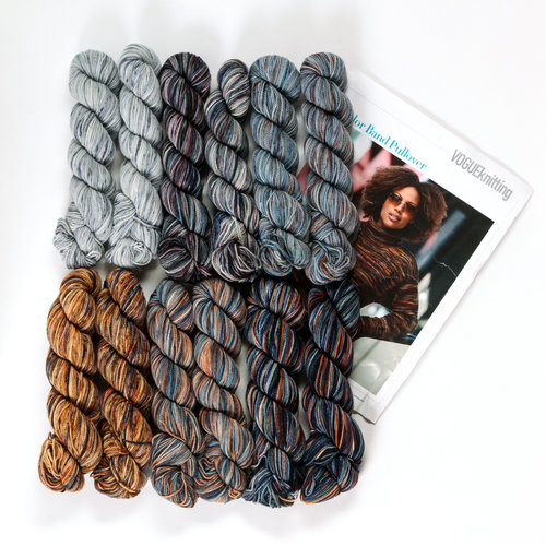 Koigu Color Band Pullover Kit - Dark Neutral (DARK)