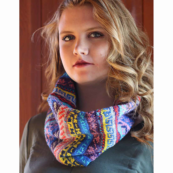 Koigu Kaleidoscope Fair Isle Cowl Kit at WEBS | Yarn.com