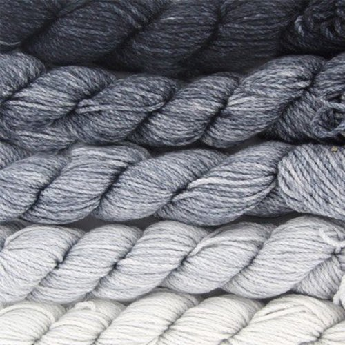 Koigu Kersti Cashmere Gradient Kit (5 pack) - Light Gray To Black (GREY)
