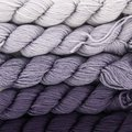 Koigu Kersti Cashmere Gradient Kit (5 pack) - Light Gray To Dark Eggplant (PURPLE)