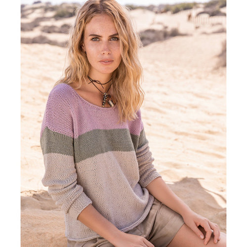 "Lana Grossa 01 Pullover in Linea Pura Fourseason Kit - 41"" (01)"