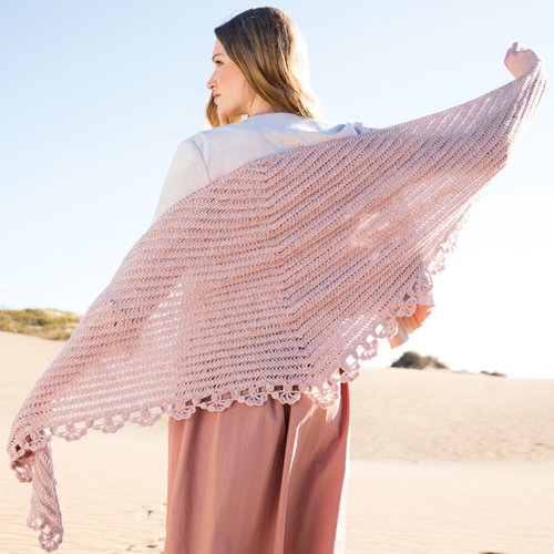 Lana Grossa 01 Triangular Shawl in Cashmere 16 Fine PDF -  ()
