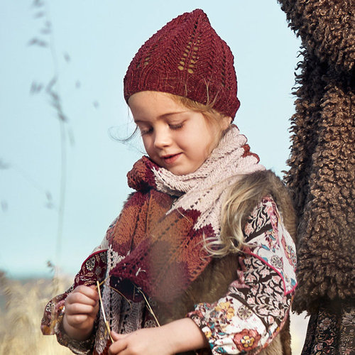 Lana Grossa 02 Kid's Scarf in Mary's Tweed PDF -  ()