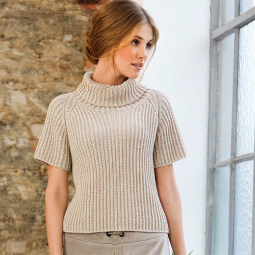 Lana Grossa 03 Short-Sleeved Pullover in Cool Wool PDF -  ()