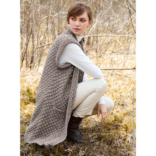 Lana Grossa 05 Long Sweater Vest in Cool Air Kit -  ()