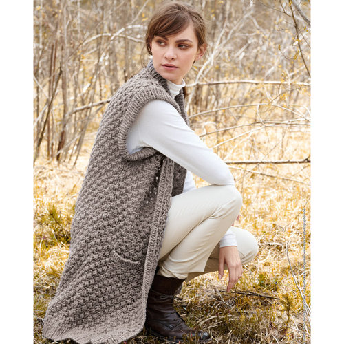 Lana Grossa 05 Long Sweater Vest in Cool Air PDF -  ()