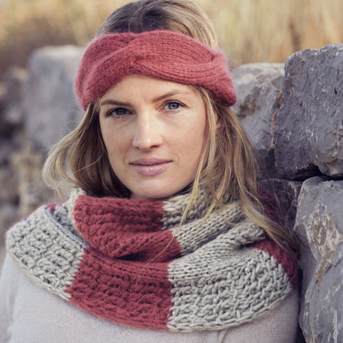 Lana Grossa 05 Women's Headband in Lala Berlin Lovely Cashmere PDF -  ()