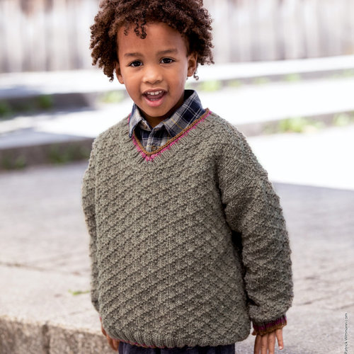 Lana Grossa 06 Kid's Pullover in Slow Wool Canapa PDF -  ()