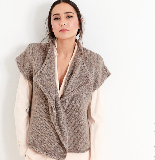 Lana Grossa 06 Vest in Cool Air PDF -  ()