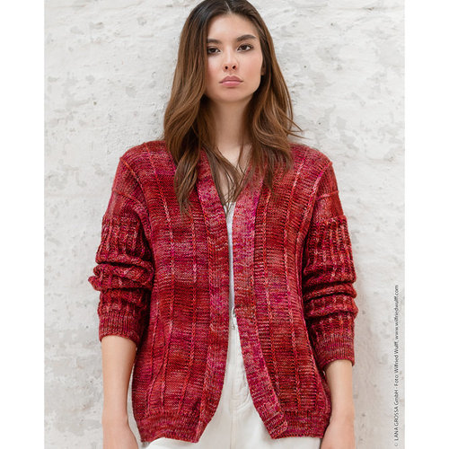 """Lana Grossa 09 Jacket in Cool Wool Big Hand-Dyed Kit - 36-42"""" (01)"""