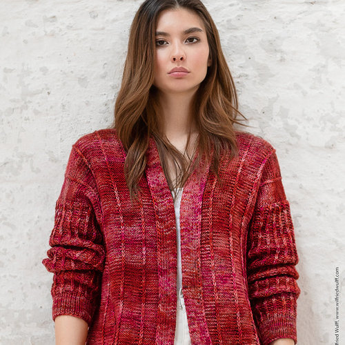 Lana Grossa 09 Jacket in Cool Wool Big Hand-Dyed Kit -  ()