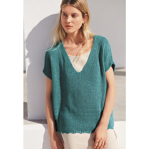 "Lana Grossa 09 Pullover in Linarte Kit - 36-38"" (01)"