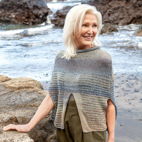 Lana Grossa 10 Poncho in Gomitolo Summer Tweed PDF -  ()