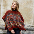 """Lana Grossa 12 Poncho in Colorissimo and Ecopuno Kit - 36-40"""" (01)"""