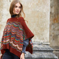 """Lana Grossa 12 Poncho in Colorissimo and Ecopuno Kit - 42-46"""" (02)"""