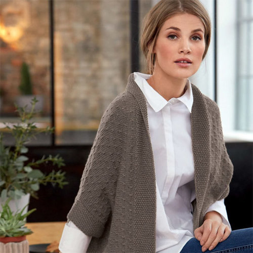 Lana Grossa 14 Cardigan in Cool Wool Big PDF -  ()
