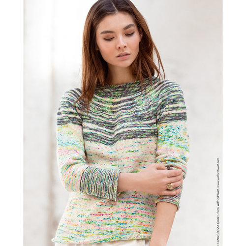 Lana Grossa 14 Pullover in Cool Wool Hand-Dyed Kit -  ()