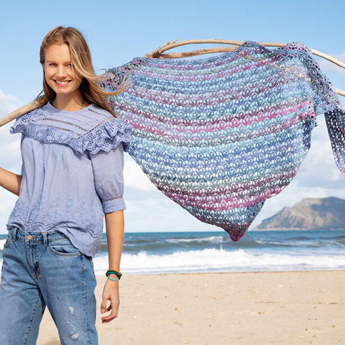 Lana Grossa 16 Shawl in Gomitolo Summer Tweed PDF -  ()