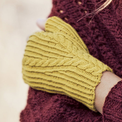 Lana Grossa 21 Fingerless Mitts in Cool Wool PDF -  ()