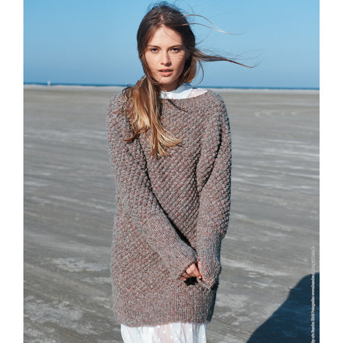 Lana Grossa 21 Pullover in Lala Berlin Shiny PDF -  ()