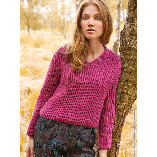Lana Grossa 29 Pullover Kit in Slow Wool Canapa -  ()