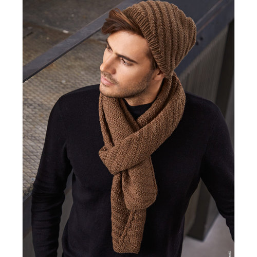 Lana Grossa 43 Men's Scarf in Cool Wool Big PDF -  ()