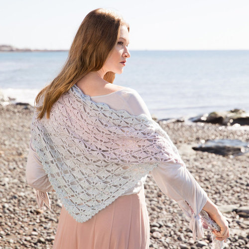 Lana Grossa Design 08 Crochet Triangular Shawl Kit in Gomitolo Puno -  ()