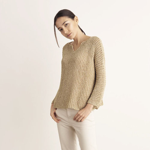 "Lana Grossa Design 10 Pullover Kit in Ombra - 47.25"" (1)"