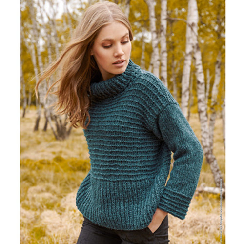 Lana Grossa Design 16 Pullover Kit in Cool Air -  ()