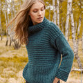 "Lana Grossa Design 16 Pullover Kit in Cool Air - 44-46"" (3)"
