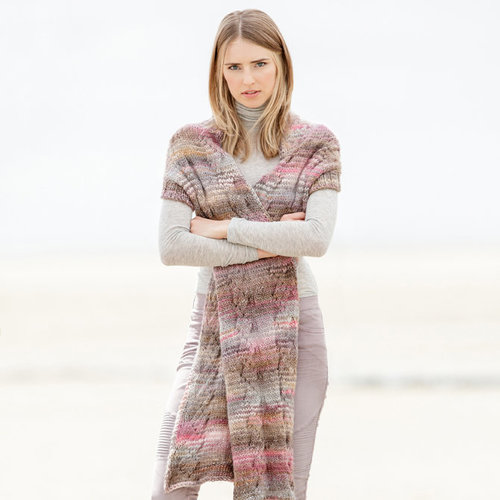 Lana Grossa Design 16 Scarf With Sleeves Kit in Gomitolo 100 - Small (01)