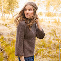 "Lana Grossa Design 24 Pullover Kit in Slow Wool Canapa - 40-42"" (2)"
