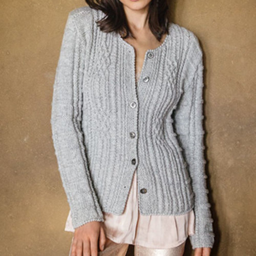 "Lana Grossa Design 29 Jacket Kit in Alta Moda Cashmere 16 - 35.25"" (01)"