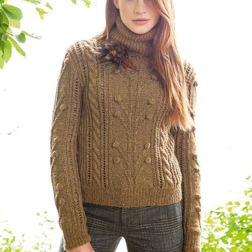"Lana Grossa Design 30 Pullover Kit in Alta Moda Alpaca - 33.75"" (01)"