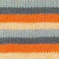 Lana Grossa Meilenweit Ashbury - Orange-peach-charcoal-Gray (5105)