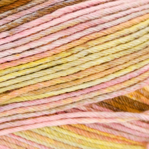 Lana Grossa Solo Cotone Paradiso - Pink, Lime, Brown, Gold (5001)