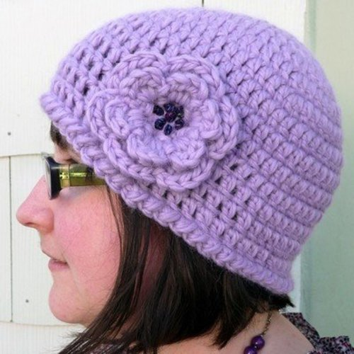 Linda Permann Quick and Simple Crochet Hat with Flower PDF -  ()